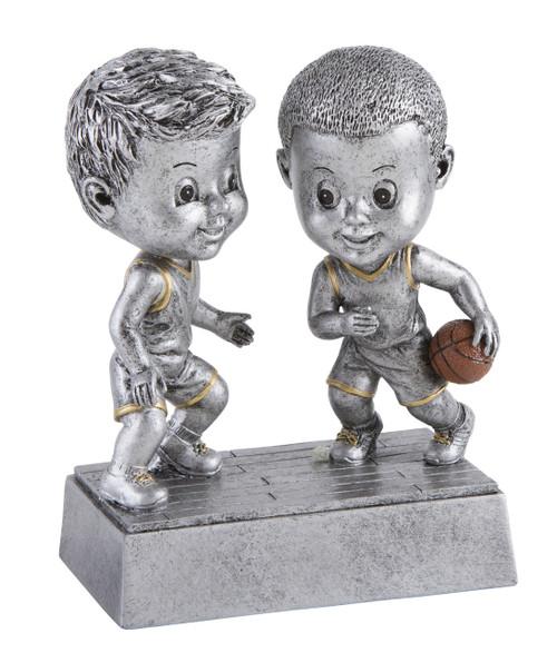Basketball Double Bobblehead Trophy - Male