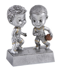"Basketball Double Bobblehead Trophy - 6"" Tall - Clearance"