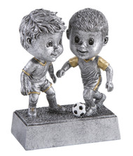 Soccer Double Bobblehead Trophy - Male | Fútbol Award