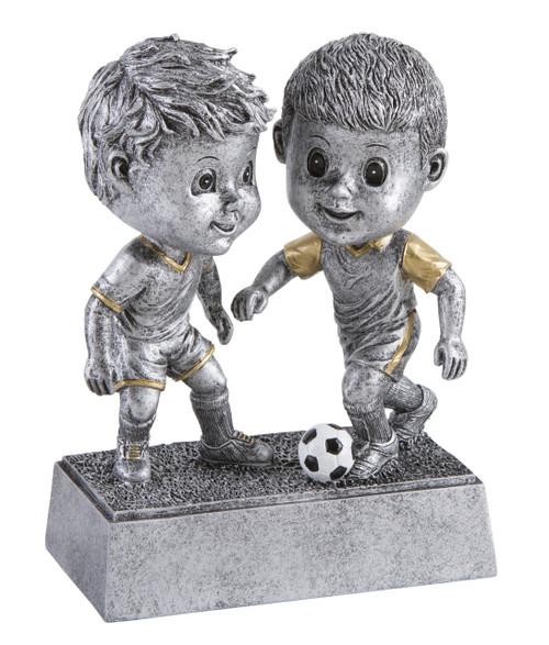 Soccer Double Bobblehead Trophy - Male | Fútbol Award - Clearance