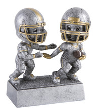 Football Double Bobblehead Trophy | Dual Player Football Bobble Head Award | 6 Inch Tall - Clearance
