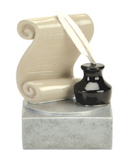 Literature Color Tek Trophy | Writing Award | 4 Inch