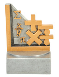Math Color Tek Trophy | School Achievement Award | 4 Inch