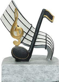 Music Color Tek Trophy | Musical Note Award | Band or Choir Trophies - 4""