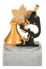 "Science Color Tek Trophy | Microscope Award - 4"""