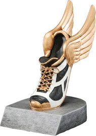 Track Color Tek Trophy | Winged Shoe Award | Runner Trophies | 4 Inch
