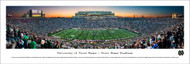 University of Notre Dame Panorama Print #8 (50 Yard - Twilight) - Unframed