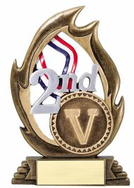 2nd Place Victory Flame Series Trophy | Second Place Award - 7.25""