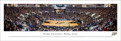 Purdue University Panorama Print #6 (Basketball) - Unframed