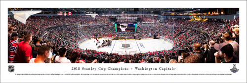 2018 Stanley Cup Championship Panorama Print - Unframed