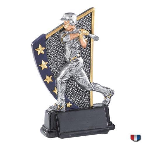 Baseball Color 5 Star Trophy / At Bat Award | 5.875 Inch - Clearance
