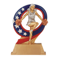 Cheer Superstar Trophy | Spirit Superstar Award | 6.5 Inch - Clearance