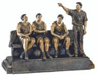 "Basketball TEAM BENCH Trophy | Basketball Coach Award | 7.75"" x 9.75"" - Clearance"