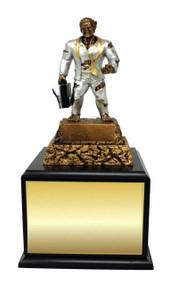 Business / Salesman Monster Perpetual Trophy | Engraved Sales Perpetual Award - 13 Inch Tall - Black Base