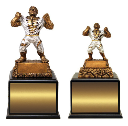 LARGE Monster Victory Perpetual Trophy   GIANT Triumphant Beast Perpetual  Trophy   15 Inch Tall