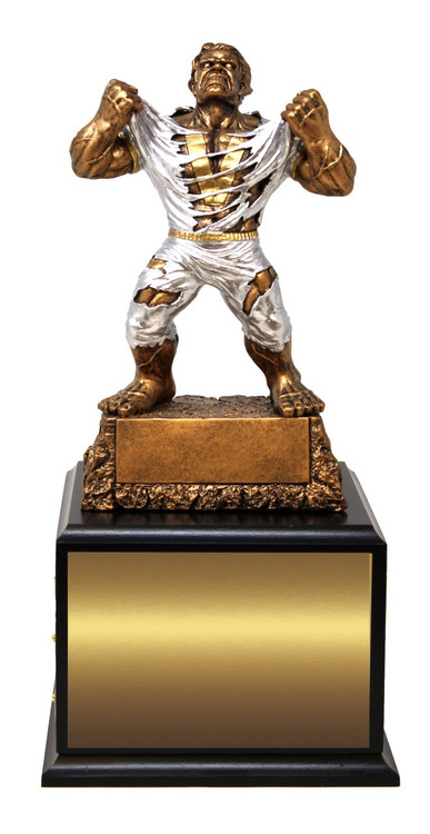 LARGE Monster Victory Perpetual Trophy   Engraved GIANT Triumphant Beast Perpetual Trophy - 15 Inch Tall