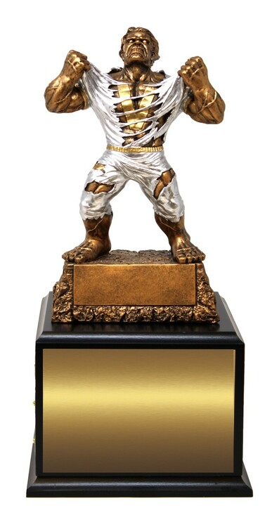 LARGE Monster Victory Perpetual Trophy | Engraved GIANT Triumphant Beast Perpetual Trophy - 15 Inch Tall