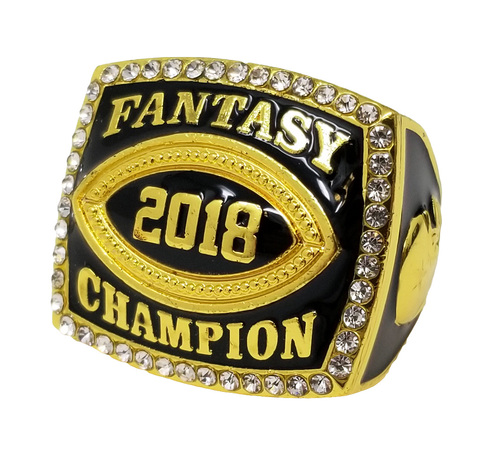 2018 Fantasy Football Championship Ring - Gold | GOLD FFL 2018 Champ Ring