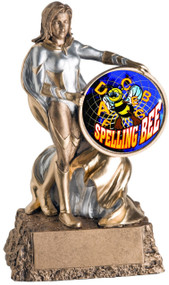 Valkyrie Spelling Bee Trophy / Female Spelling Award - 6.75""