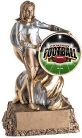 Fantasy Football League Valkyrie Trophy | Engraved Female FFL Award - 6.75 Inch Tall