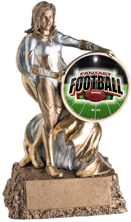 Fantasy Football League Valkyrie Trophy | Engraved Female FFL Award - 6.75 Inch Tall