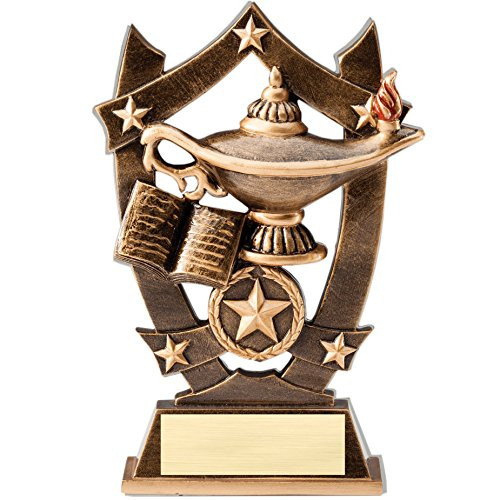 Academic 3D Gold Sport Stars Trophy | Star Lamp of Knowledge Award | 6.25 Inch
