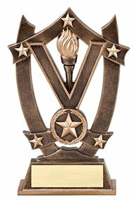 Victory 3D Gold Sport Stars Trophy | Star Victor Award - 6.25""