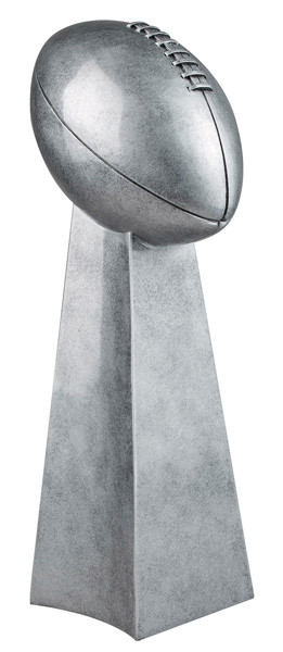 Football Silver Tower Trophy | Gridiron FFL Championship Award | 9.5 and 14 Inch
