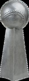 Baseball Silver Tower Trophy | Softball League Championship Award | 14 Inch