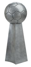 Soccer Silver Tower Trophy | Fútbol League Championship Award | 14 Inch