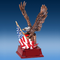 Eagle with American Flag Award | Engraved Patriotic Bronze Eagle Trophy - 9.25 Inch Tall