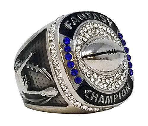 Fantasy Football Championship Ring - Silver | SILVER FFL Champ Ring | NO YEAR