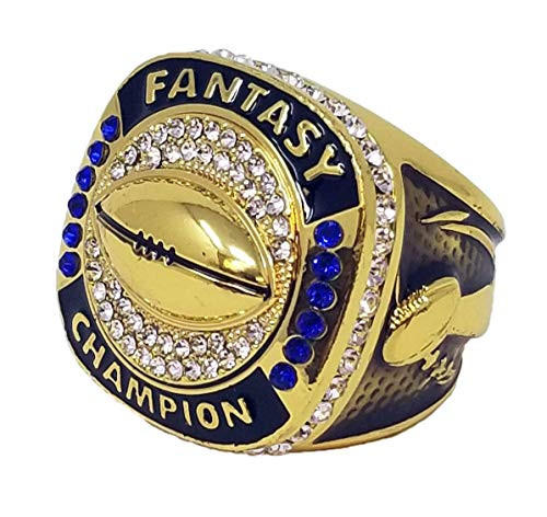 Fantasy Football Championship Ring - Gold   GOLD FFL Champ Ring   NO YEAR
