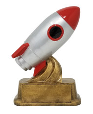 Rocket Ship Trophy | Classic Spacecraft Award - 6""