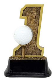Golf Hole-In-One Trophy ⛳ Golf Tournament Award - 6""