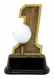 """Golf Hole-In-One Trophy ⛳ Engraved Golf Tournament Award - 6"""""""