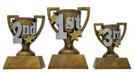 1st, 2nd or 3rd Place Gold Cup Trophy | 3D Gold Cup Place Award