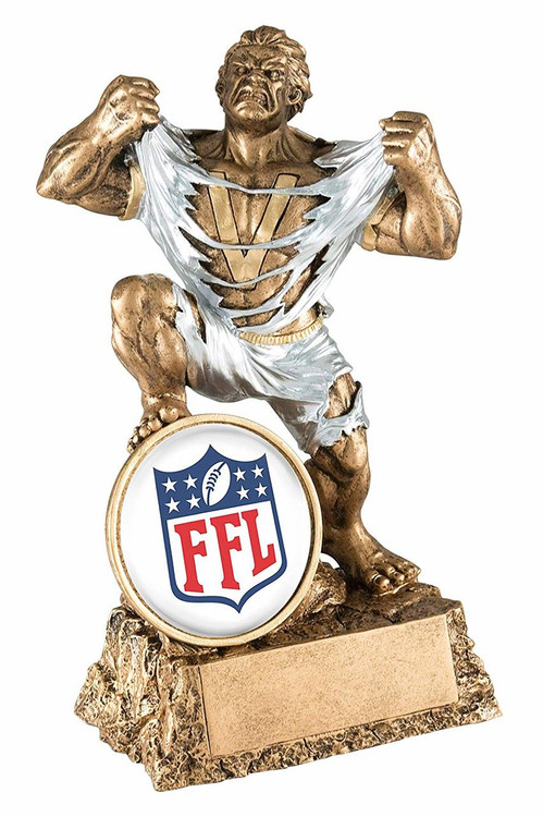 Fantasy Football Classic Shield Monster Trophy   FFL Beast Award
