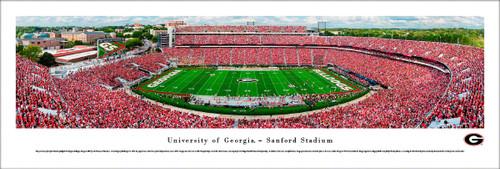 University of Georgia Bulldogs Panorama Print #5 (50 Yard) - Unframed