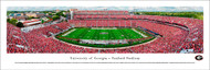University of Georgia Bulldogs Panoramic Print #5 (50 Yard) - Unframed
