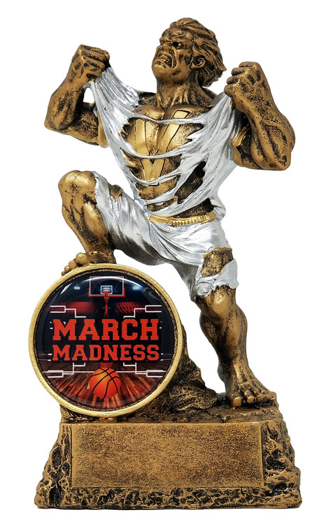 Basketball March Madness Monster Trophy | Basketball Bracket Beast Award | 6.75 Inch Tall