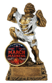 Basketball March Madness Monster Trophy | Basketball Bracket Beast Award | 6.75 Inch Tall