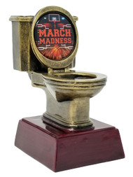 Basketball March Madness Gold Toilet Bowl Trophy | Broken Bracket March Madness 2020 Award - 6""