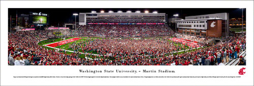 Washington State University Panorama Print #4 (50 Yard) - Unframed