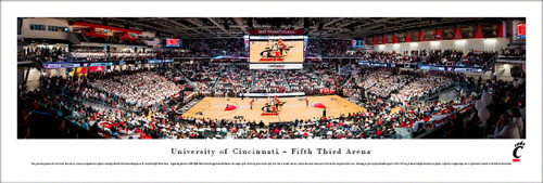 University of Cincinnati Panorama Print #3 (Basketball) - Unframed