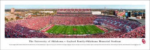 University of Oklahoma Panorama Print #8 (50 Yard) - Unframed