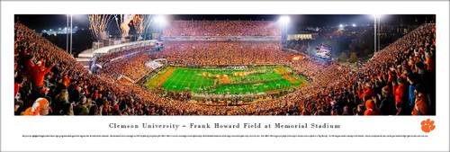 Clemson University Panorama Print #35 (50 Yard) - Unframed