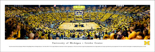 University of Michigan Panorama Print #7 (Basketball) - Unframed