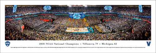 2018 NCAA National Championship Panorama Print (Basketball) - Unframed