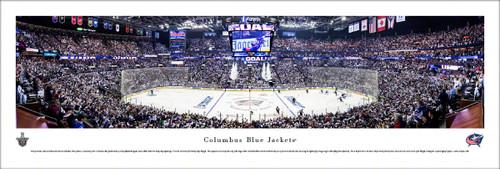 Columbus Blue Jackets Panorama Print #5 (Center Ice) - Unframed